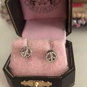 Peace sign juicy couture earrings
